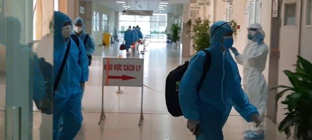 组图:从赤道几内亚回国的219名越南公民在中央热带疾病医院第二分院接受隔离 hinh anh 6
