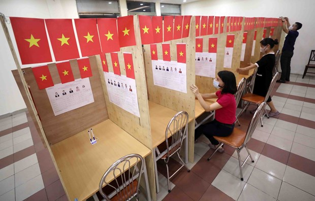 国会和人民议会换届选举:竞选活动通过安全且灵活的方式依法进行 hinh anh 4