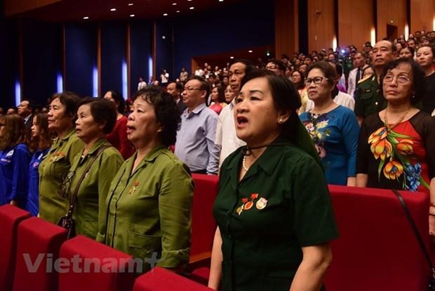 组图:胡志明主席诞辰130周年庆典在河内隆重举行 hinh anh 9