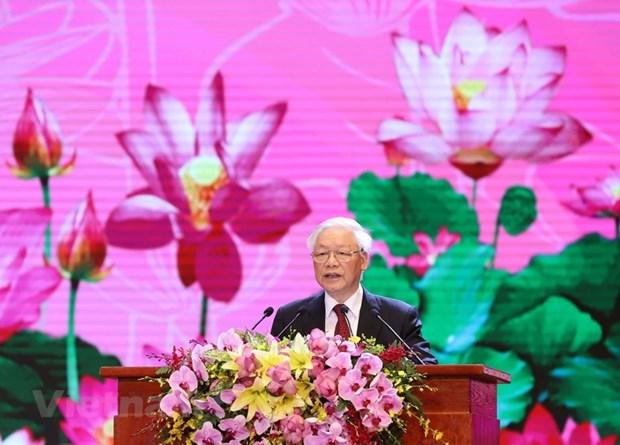 组图:胡志明主席诞辰130周年庆典在河内隆重举行 hinh anh 11