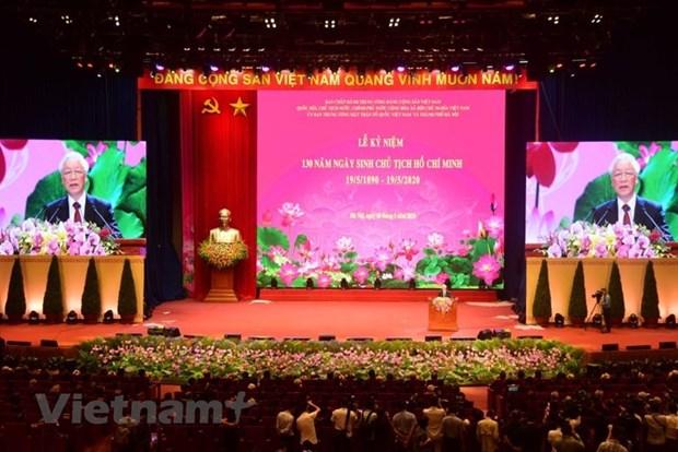 组图:胡志明主席诞辰130周年庆典在河内隆重举行 hinh anh 12