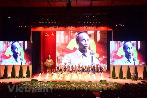 组图:胡志明主席诞辰130周年庆典在河内隆重举行 hinh anh 7