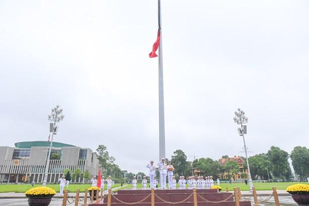 组图:越南举行降半旗仪式 对原越共中央总书记黎可漂致哀 hinh anh 10