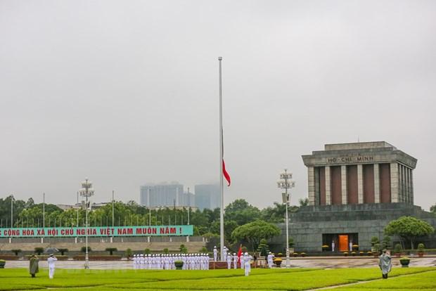 组图:越南举行降半旗仪式 对原越共中央总书记黎可漂致哀 hinh anh 11