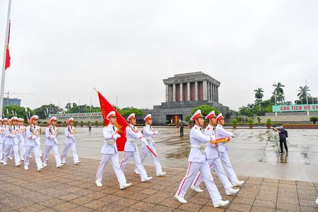 组图:越南举行降半旗仪式 对原越共中央总书记黎可漂致哀 hinh anh 12