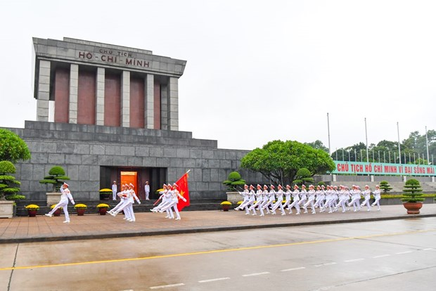 组图:越南举行降半旗仪式 对原越共中央总书记黎可漂致哀 hinh anh 13