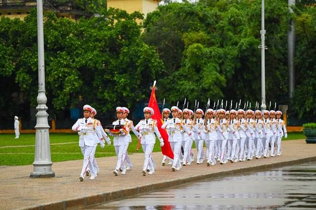 组图:越南举行降半旗仪式 对原越共中央总书记黎可漂致哀 hinh anh 1