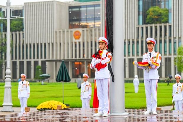 组图:越南举行降半旗仪式 对原越共中央总书记黎可漂致哀 hinh anh 7
