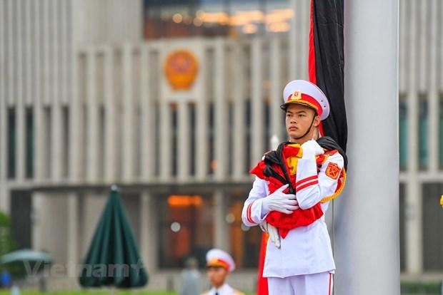组图:越南举行降半旗仪式 对原越共中央总书记黎可漂致哀 hinh anh 8