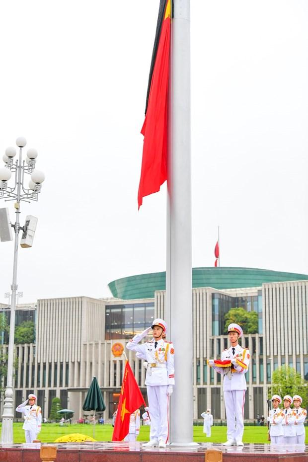 组图:越南举行降半旗仪式 对原越共中央总书记黎可漂致哀 hinh anh 9