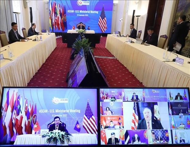 组图:AMM-53 框架内的东盟-美国外长会议以视频形式举行 hinh anh 3