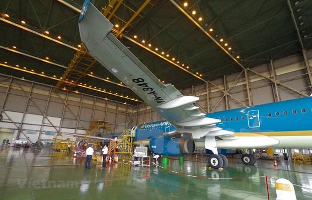 越南与新加坡合作开展飞机保养维修活动 hinh anh 1