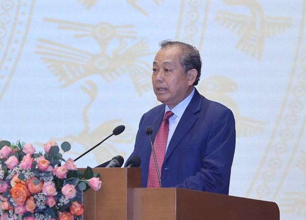 阮春福主持2011-2020年阶段国家行政审批制度改革总体计划总结全国视频会议 hinh anh 2