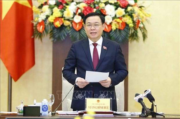 国会主席王廷惠会见科技应用优秀企业领导 hinh anh 2