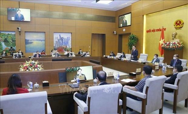 国会主席王廷惠会见科技应用优秀企业领导 hinh anh 1