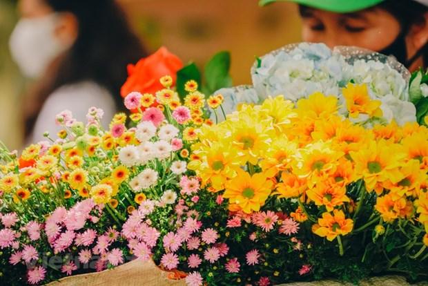 组图:花卉小货郎为河内秋天增添了一道亮丽的风景 hinh anh 7