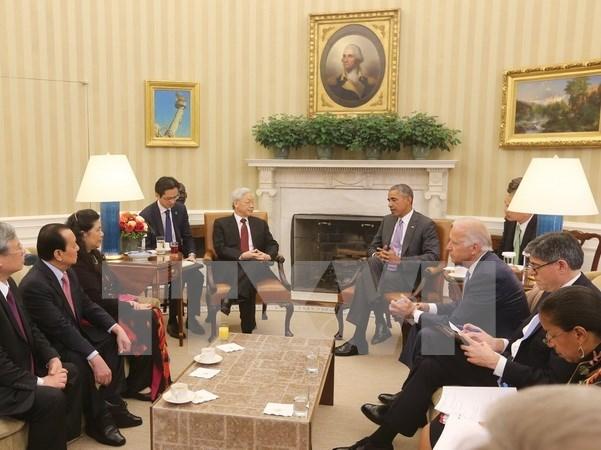 越南和美国签署多项合作文件丰富两国关系内涵 hinh anh 1