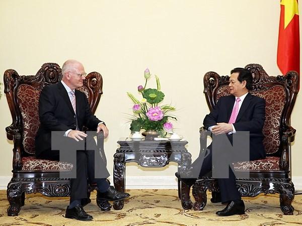 越南政府总理阮晋勇接见欧盟驻越代表团团长法兰兹·叶森 hinh anh 1