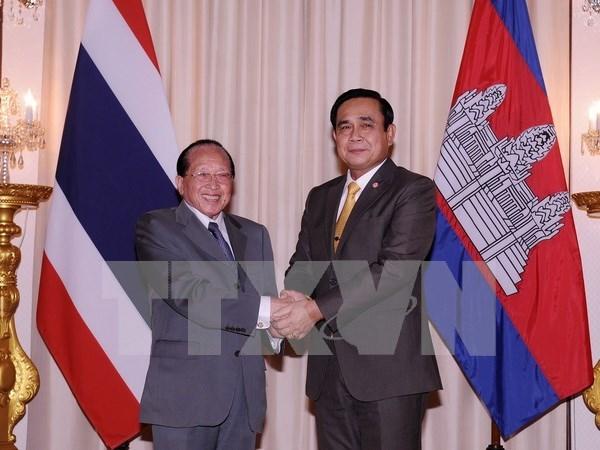 柬埔寨与泰国加强双边合作关系 hinh anh 1