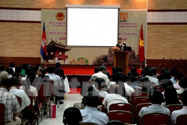 2015年越柬经济论坛在金边举行 hinh anh 1