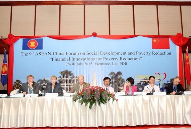 第九届东盟-中国社会发展与减贫论坛在万象举行 hinh anh 1