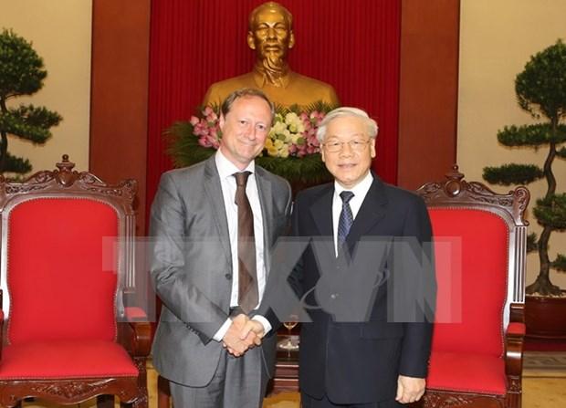 阮富仲总书记会见比利时驻越大使布鲁诺·安格莱特 hinh anh 1