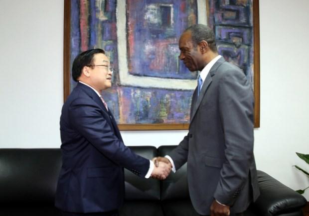 莫桑比克总理卡洛斯与越南政府副总理黄忠海举行会谈 hinh anh 1