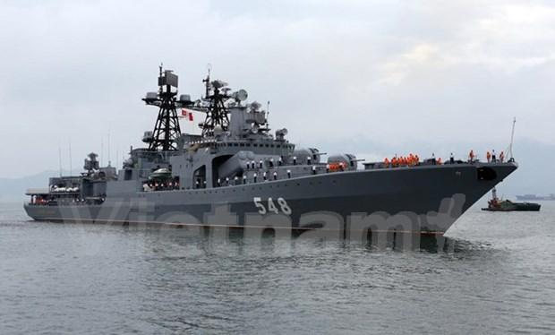 俄罗斯海军舰队访问越南岘港市 hinh anh 1