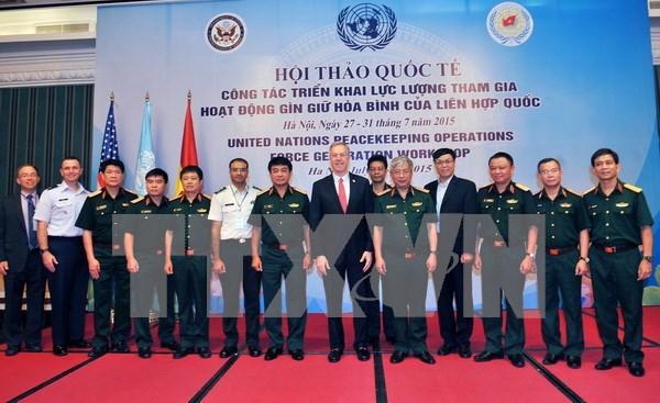 越南希望在维和行动领域继续受到联合国和美国的援助 hinh anh 1