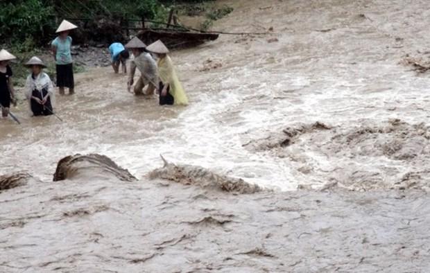 越南北部山区各省遭暴雨洪水袭击 致3人死亡4人受伤 hinh anh 1
