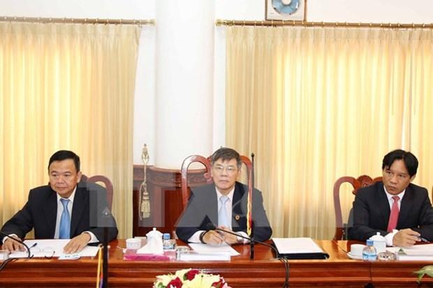 越南与老挝政府监察总署加强合作 hinh anh 1