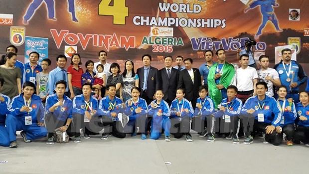 第4届越武道世界锦标赛:越南代表团连续第4次卫冕冠军 hinh anh 1