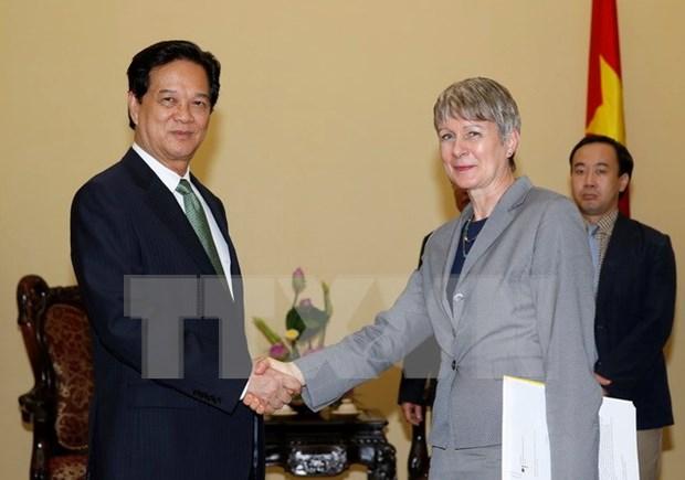 越南政府总理阮晋勇会见德国驻越南大使忧特达•弗拉斯 hinh anh 1