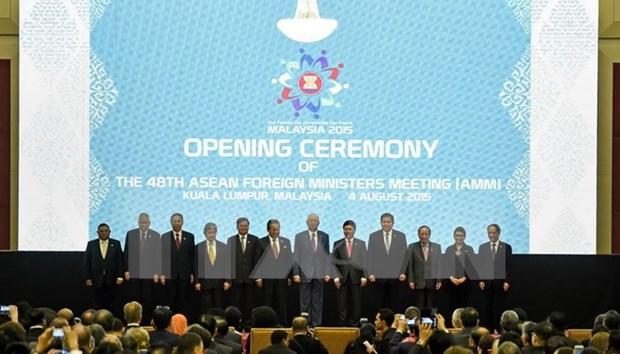 第四十八届东盟外长会议议事日程中的东海问题 hinh anh 1