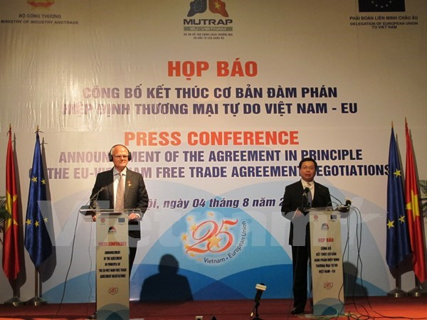 越南与欧盟自由贸易协定谈判结束 hinh anh 1