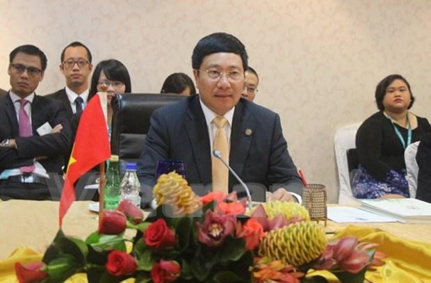 越南政府副总理范平明出席第八届美国与湄公河下游国家外长会议 hinh anh 1