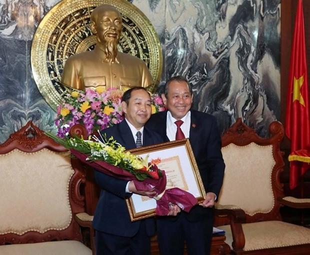 越南最高人民法院院长张和平会见老挝最高人民法院副院长坎潘·桑达拉 hinh anh 1