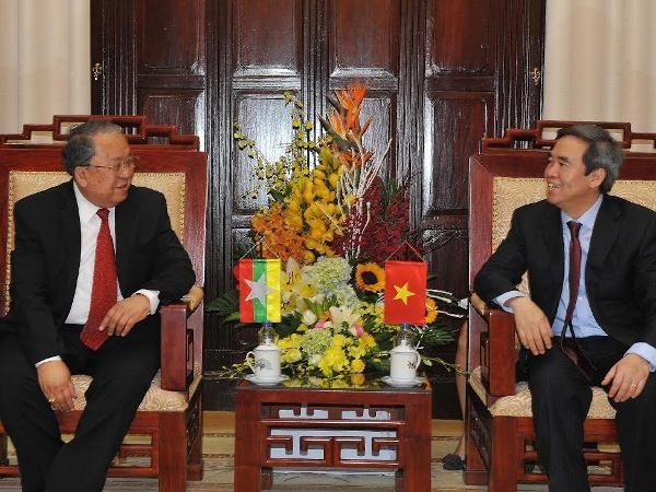 越缅两国中央银行加强合作 hinh anh 1