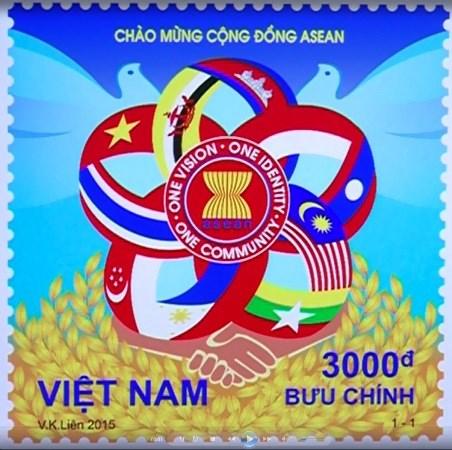 越南邮票设计师武金莲的邮票在东盟各国一律发行 hinh anh 1