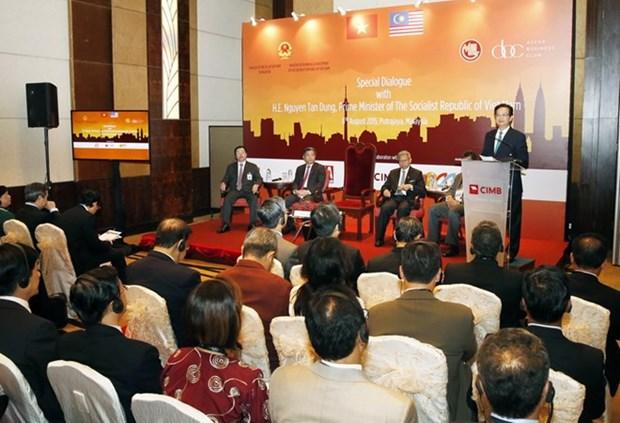 阮晋勇总理与东盟企业家俱乐部成员举行对话会 hinh anh 1