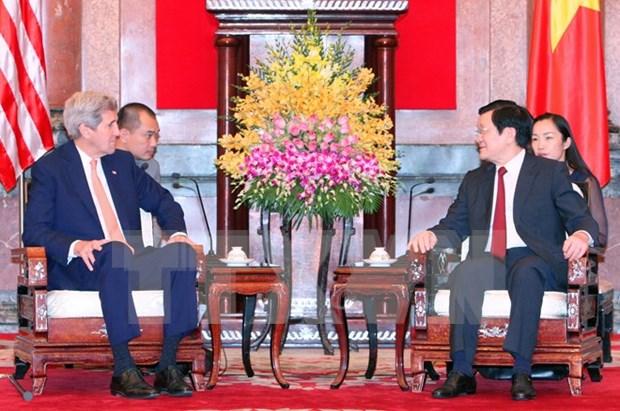 越南国家主席张晋创会见美国国务卿约翰·克里 hinh anh 1