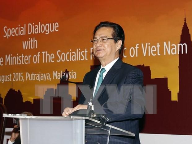 阮晋勇总理会见旅居马来西亚越南人社群 hinh anh 1
