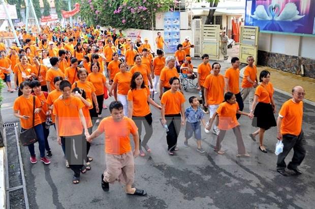 越南各地举行多项活动纪念越南橙剂受害者日 hinh anh 1