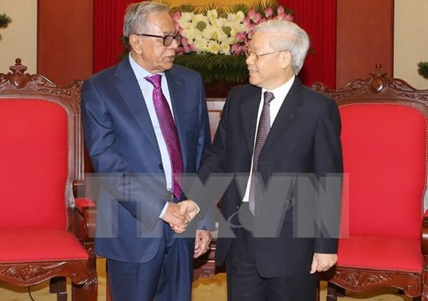 越共中央总书记阮富仲会见孟加拉国总统哈米德 hinh anh 1