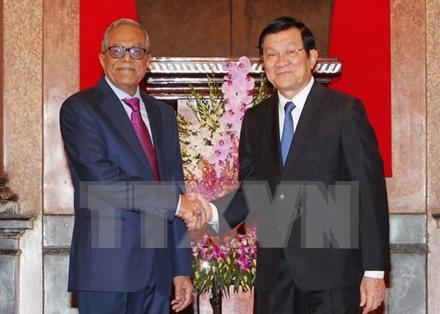 越南国家主席张晋创与孟加拉国总统哈米德举行会谈 hinh anh 1