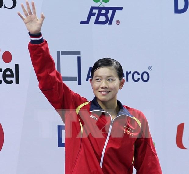 越南女子游泳名将阮氏映圆荣获世界锦标赛铜牌 hinh anh 1