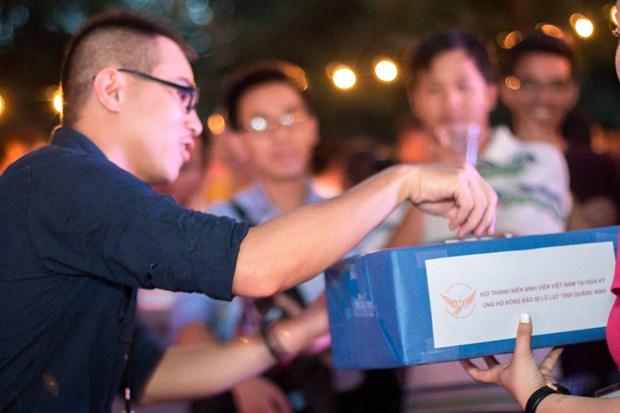 越南留学生在美国捐款帮助广宁省灾民 hinh anh 1