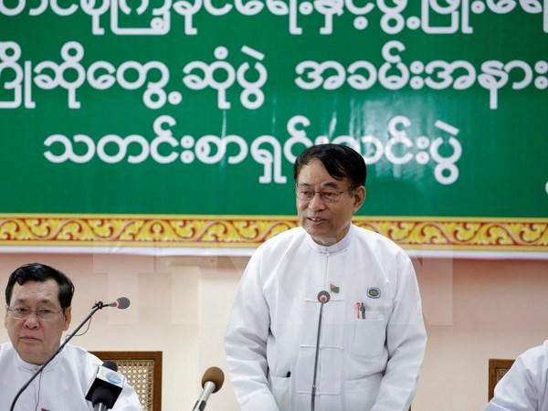 缅甸执政党主席和总书记被解除职务 hinh anh 1