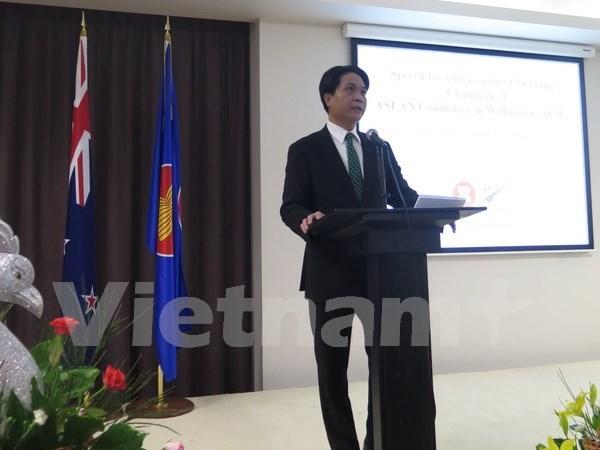 庆祝东盟成立48周年招待会在新西兰举行 hinh anh 1