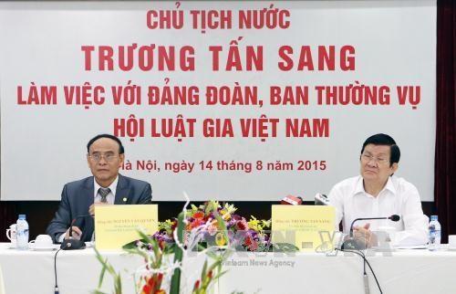越南国家主席张晋创:建设精通国内外法律知识的越南律师队伍 hinh anh 1